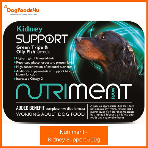 Nutriment Kidney Support 500g tub raw dog food formula