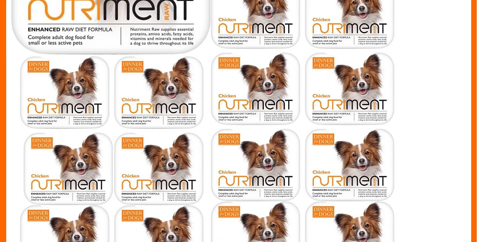 Nutriment Dinner for Dogs 20 trays raw Chicken formula