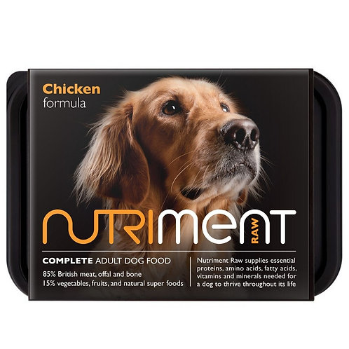 Nutriment Raw dog food complete chicken formula for dogs in 500g tray