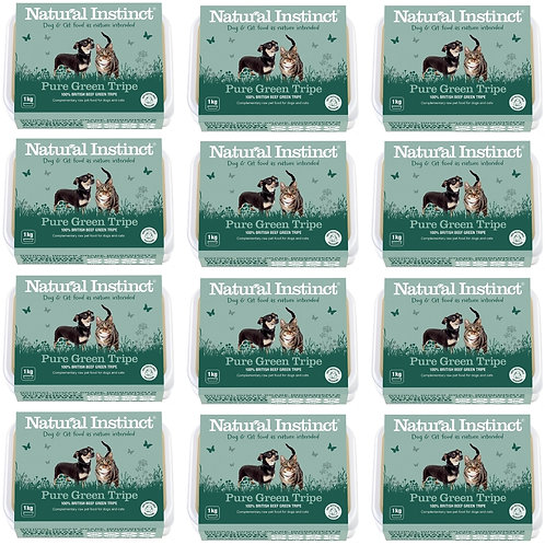 Natural Instinct 12kg Pure Raw Green Tripe for Dogs