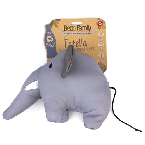 Beco Pets elephant tough eco dog toy with sales tag