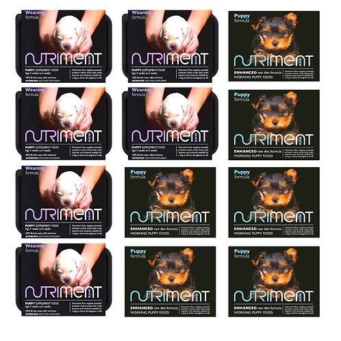 Nutriment Raw Puppy BARF mixer set including puppy and weaning formula