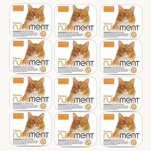 12 Dinner for cats raw Nutriment formula tubs