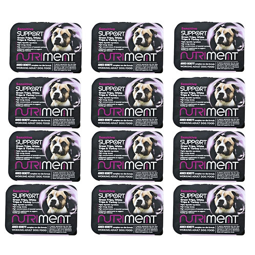 6kg Nutriment Raw Sensitive formula for dogs in 12 x 500g trays