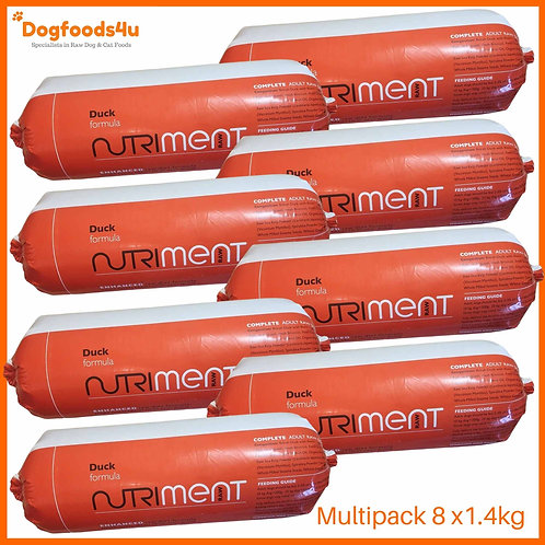 Nutriment Raw Duck formula for dogs multipack 11.2kg