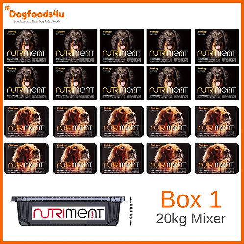 Nutriment raw dog food 20kg mixer box 1 of 2 complete BARF