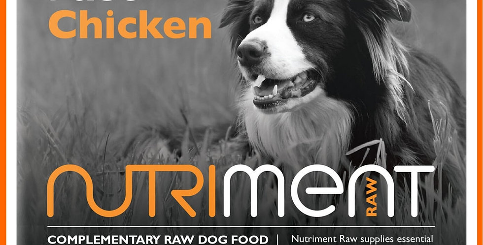 "Nutriment raw dog food ""Just"" Chicken 500g packaging"
