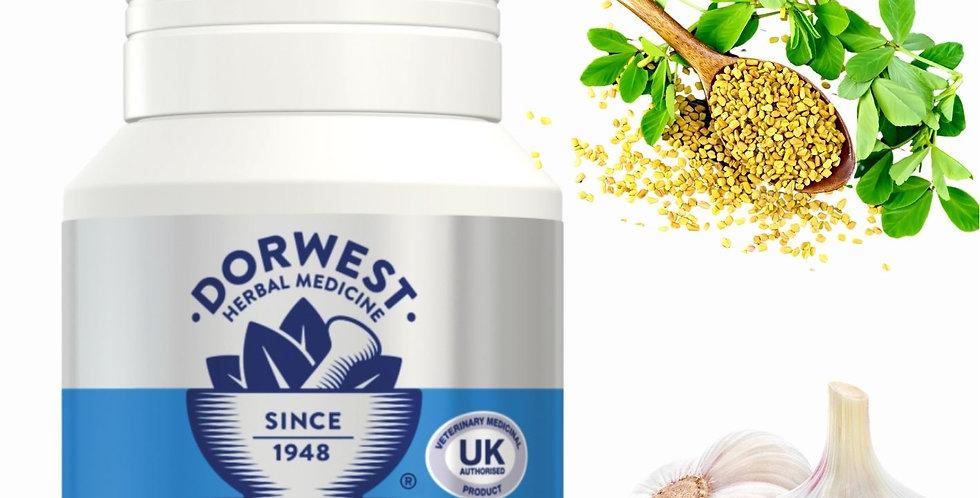 Dorwest - Garlic and fenugreek for dogs - licensed medicine supplement for pet