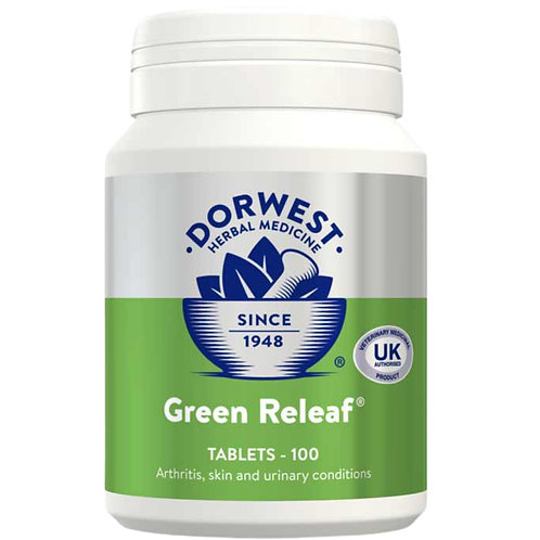 Dorwest Green Releaf 100 tablets for dogs who are raw fed BARF