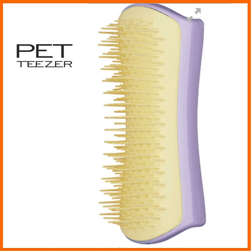 PETTEEZER Lilac and butter small dog brush for detangling dog hair
