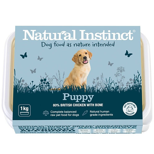 Natural Instinct raw Natural Puppy dog food in 1kg tub