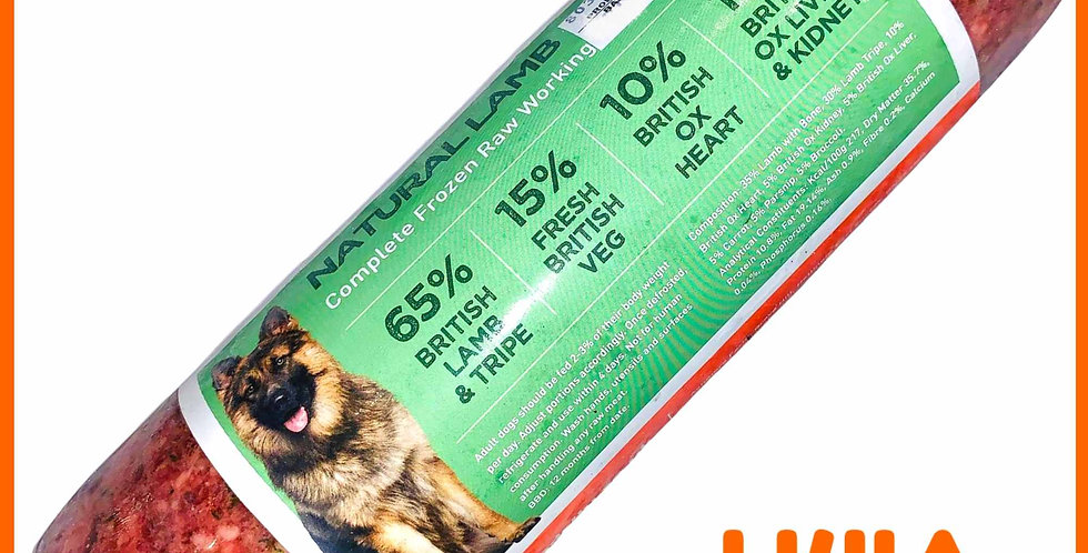 U4IA Raw dog food formula Natural Lamb 1kg