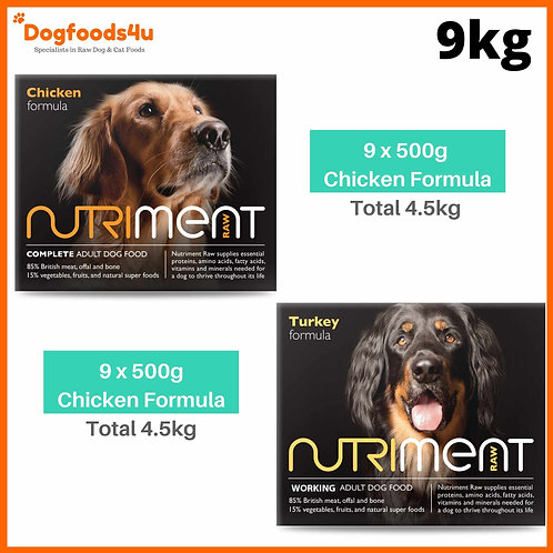 9kg chicken and turkey formula tub selection by Nutriment