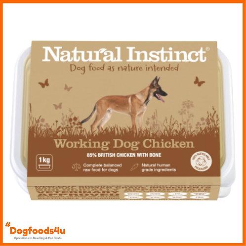 Natural instinct 1kg Chicken working dog - new packaging 2020 retail design