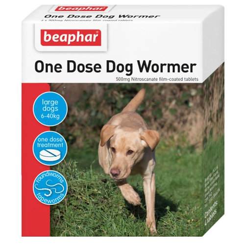 Beaphar One Dose Wormer For Dogs 4 pack