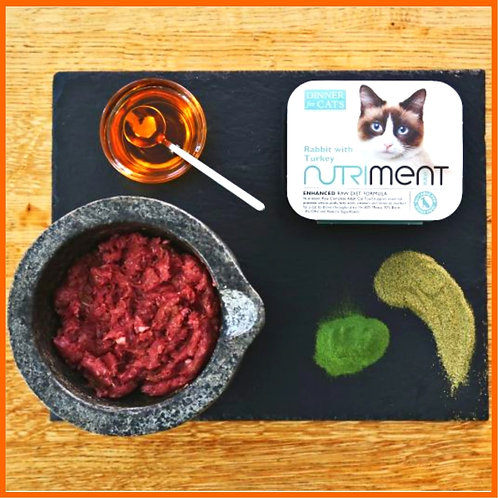 Nutriment Dinner for Cats - Rabbit with Turkey Cat Food BARF raw natural best diet