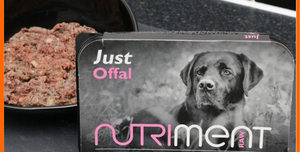 """Nutriment """"Just"""" Offal in 500g tub raw dog food"""