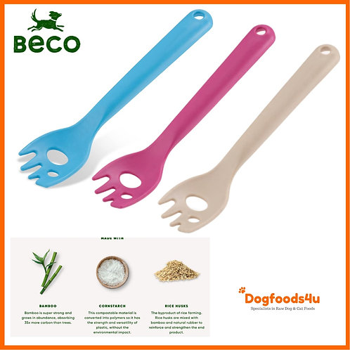 Beco raw dog food mashing spork all colours