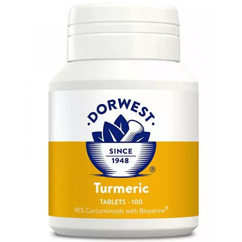 Dorwest Tumeric for dogs 100 tablets herbal supplement