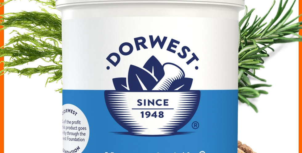 Dorwest Keeper's Mix tub 250g in retail packaging for raw fed dog