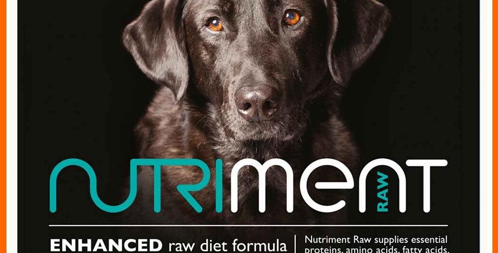 Nutriment Senior formula raw dog food in 500g tub