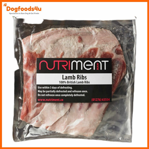 Nutriment raw lamb ribs in retail packaging for dogs