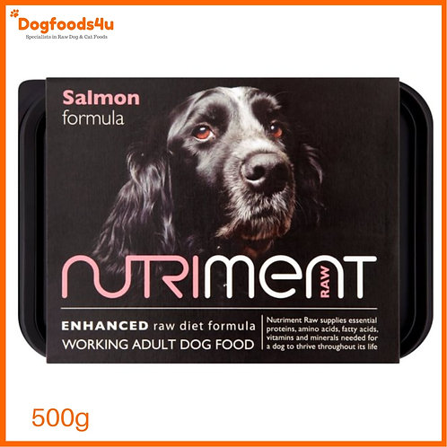 Nutriment Raw Salmon & Chicken 500g tub for dogs