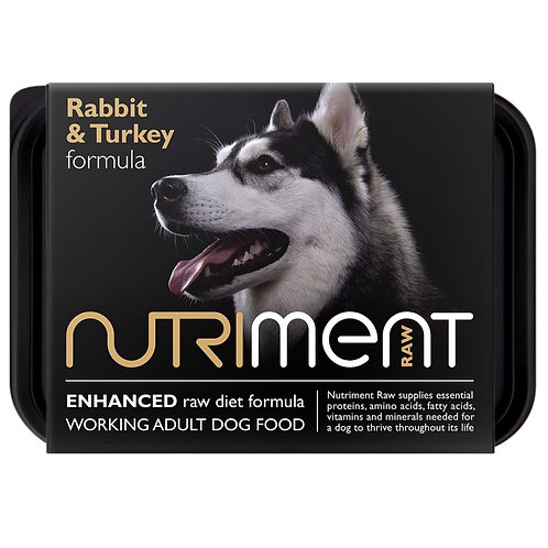 Nutriment Rabbit and Turkey 500g dog food in retail pack