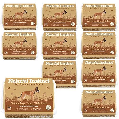 Natural Instinct Working Chicken 10kg multipack 2020 design raw dog food