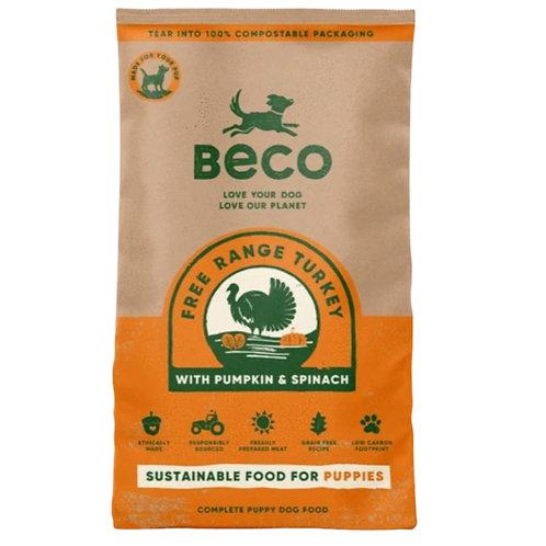 Beco free range turkey 2kg kibble dog food in sack