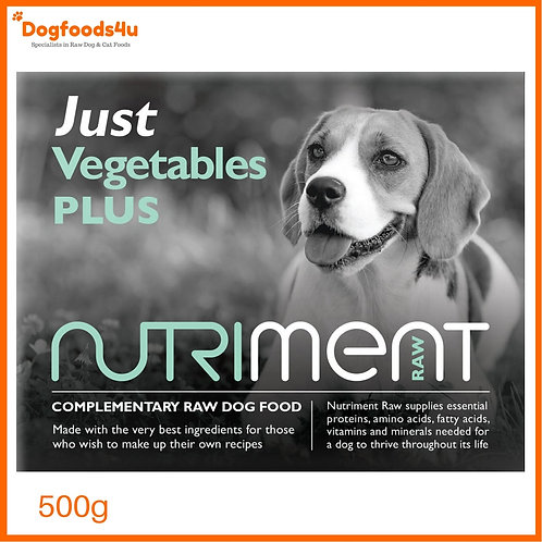 "Nutriment ""Just"" vegetables for dogs raw"