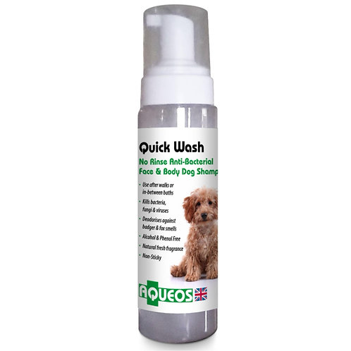 Aqueos Quickwash canine paw instant no water dry soap