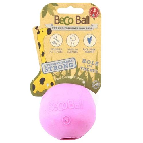 Beco Pink Natural Rubber Reward ball