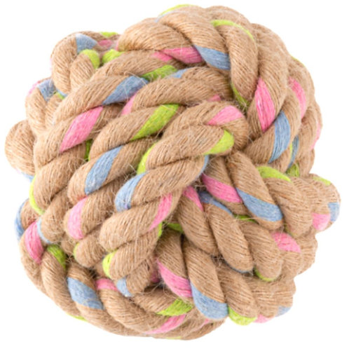 Beco Rope ball dog toy - eco recycled