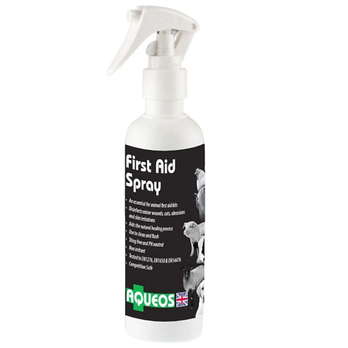 Aqueos first aid spray for dogs 200ml bottle