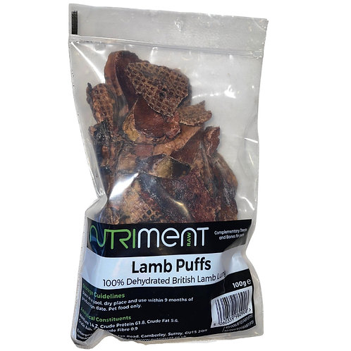 Nutriment lamb puffs for dogs