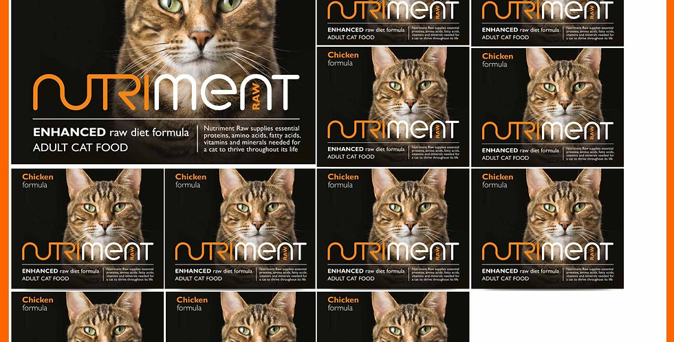 Nutriment Chicken formula for cats - 6kg selection box in tubs