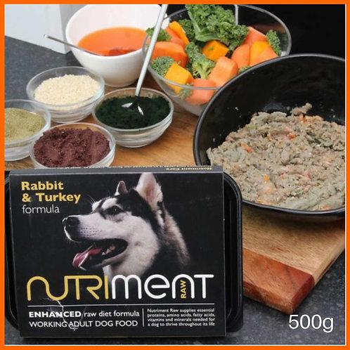 Nutriment Rabbit and Turkey 500g dog food