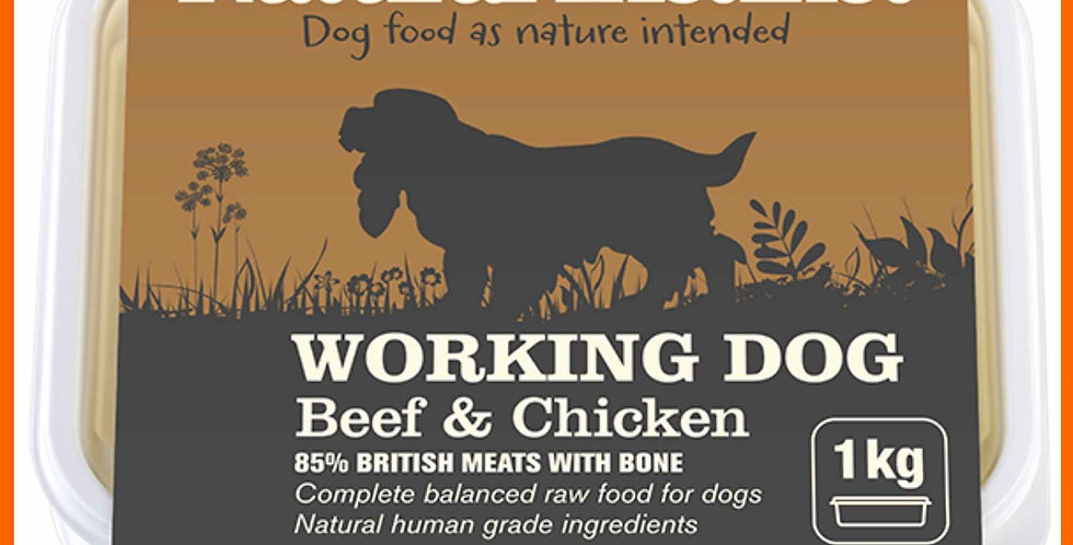 Natural Instinct working dog Beef and chicken in 1kg retail pack