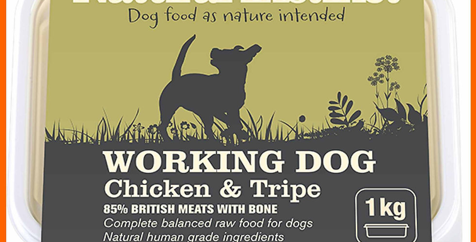 Natural Instinct Chicken and Tripe food for working dog in 1kg packet