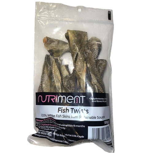 Nutriment Raw fish twists in bag for dogs