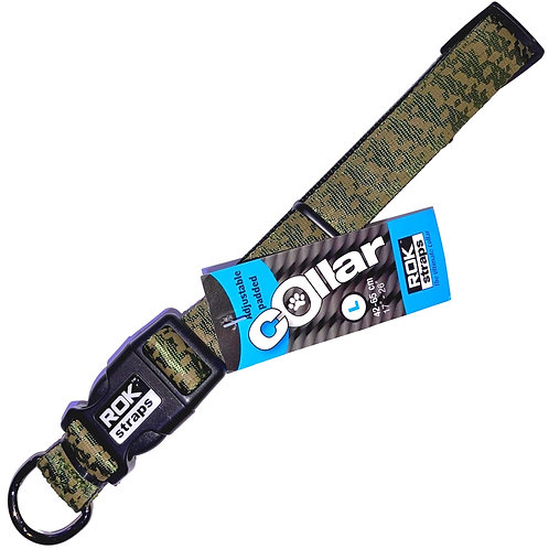 Rok Straps - Jungle Green Camo with black Collar