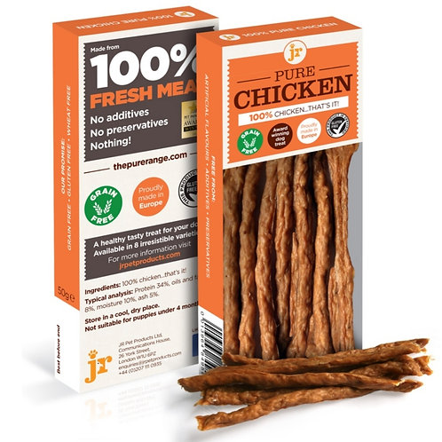 JR Chicken Sticks for dogs dehydrated treats 50g pack