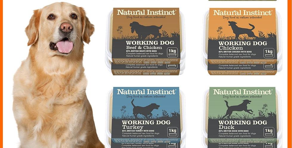 Natural Instinct 10kg Mixer set of 6 flavours raw dog food for BARF fed dog