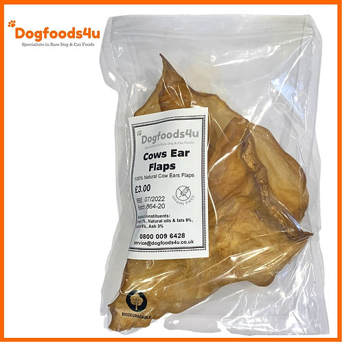 Raw dehydrated cows ear flaps for raw fed dogs BARF treat