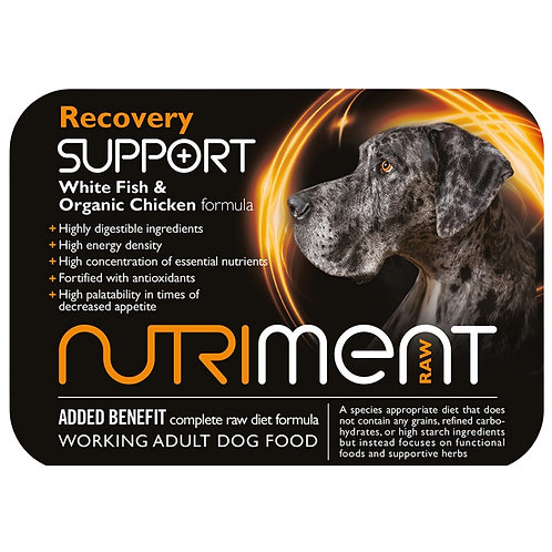 Nutriment Raw Recovery support 500g tub for dogs