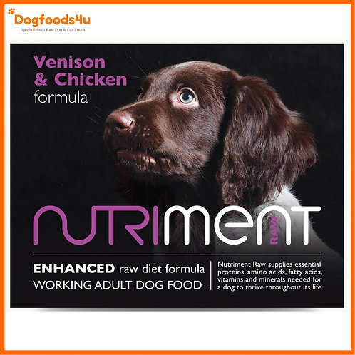 Nutriment Raw dog food venison with chicken in 500g retail packet