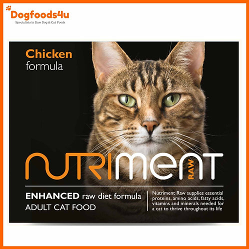 Nutriment chicken for cats in 500g tub complete formula