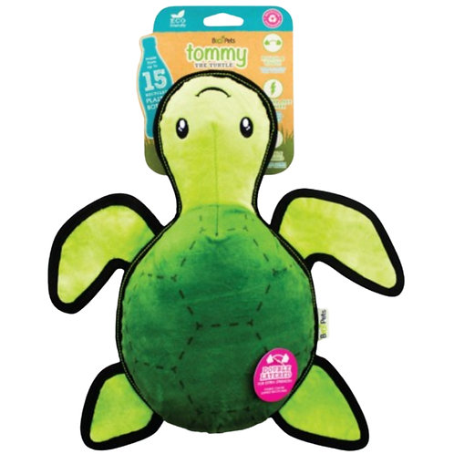 Beco tommy the turtle dog toy - recycled tough pet toy