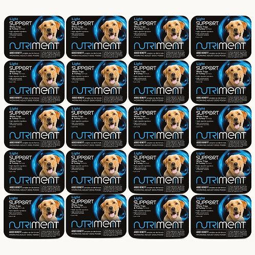 20 tubs of Nutriment light complete raw dog food formula